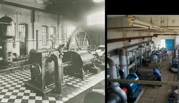 Pumpenhalle früher und ende der 90er Jahre